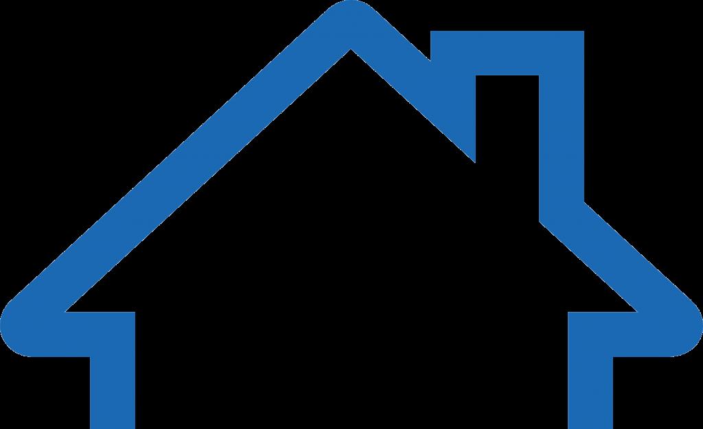House outline blue